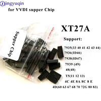 jingyuqin 20pcs/50pcs for VVDI Supper Chip 46/48/4D/4C/T5 XT27A Copy Chip for Xhorse VVDI MINI Key Tool Transponder Blank Chips