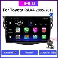 jmcq android 10 car radio multimidia video player navigation gps for toyota rav4 rav 4 2005 2013 2din 2 din head unit carplay