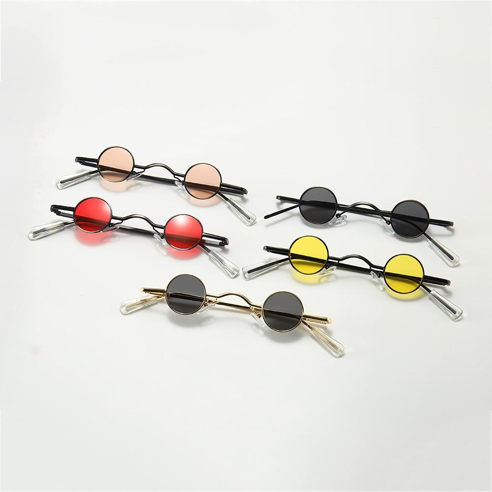 Retro Mini Sunglasses Round Men Metal Frame Gold Black Red Small Round Framed Sun glasses For Women