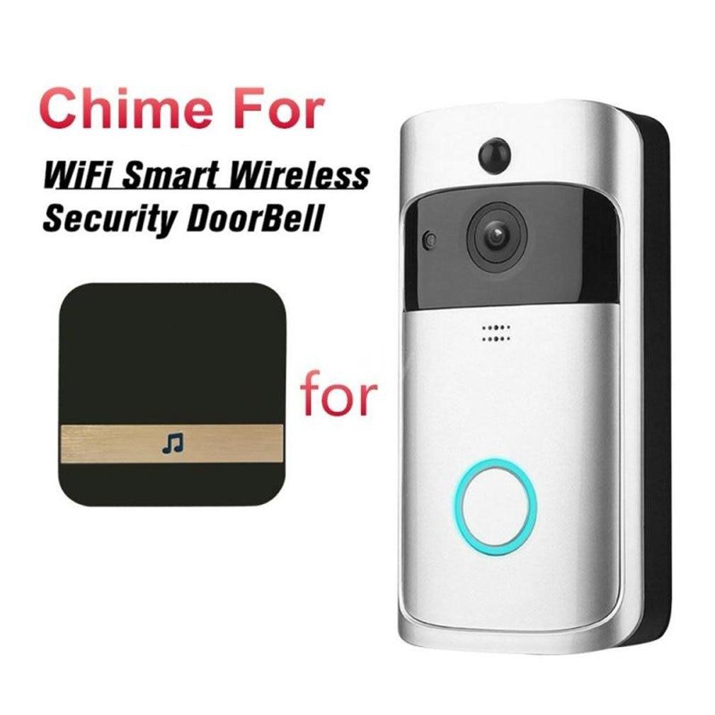 Беспроводной дверной звонок с Wi-Fi, уличный мини-видеодомофон с камерой для умного дома, двухстороннее аудио для HD-видеокамеры 1080P