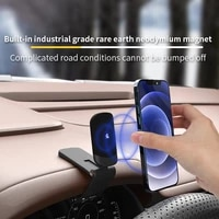 magnetic car phone holder gps mount holder dash board clip metal magnet phone stand for iphone 12 11 pro huawei xiaomi bracket