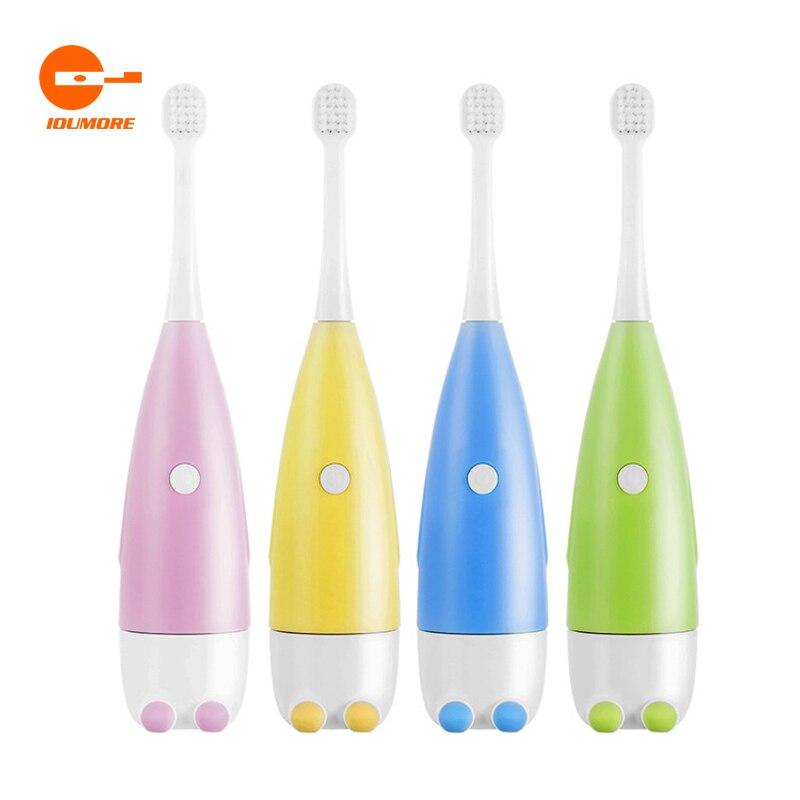 Cartoon Children's Little Penguin Soft Hair Toothbrush Waterproof Battery Brush Model