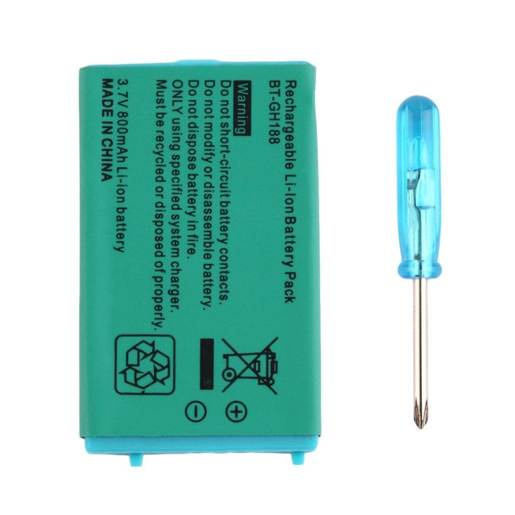 3,7 В 850 мА · ч перезаряжаемая батарея для игр, для мальчиков, Advance SP системы с отверткой, литиевая батарея