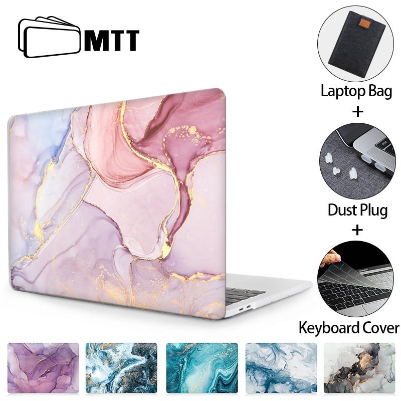MTT Laptop Case For Macbook Air Pro 11 12 13 15 16 Marble Hard Cover For Macbook Air 13 M1 Funda a2337 a2179 a1466 a2289 a2338