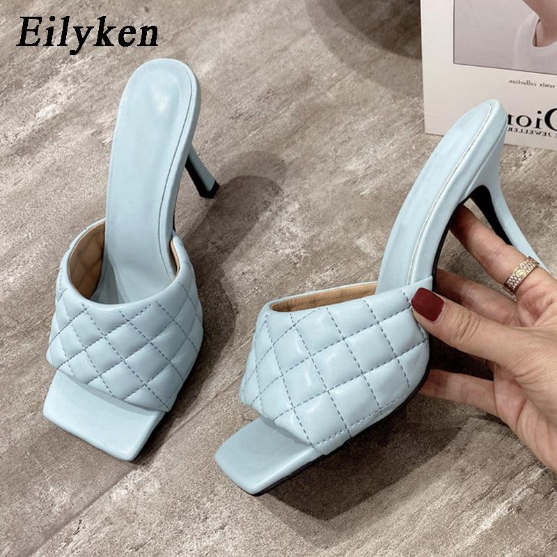AliExpress - Eilyken Summer Women Mules Design slippers Sandals Square sole slides High heel 9CM Women shoes Summer Woman size 41 42