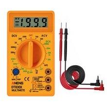 LCD Digital -830B voltímetro amarillo ohmímetro amperímetro multímetro probador de mano DT830B AC DC probador de hogar