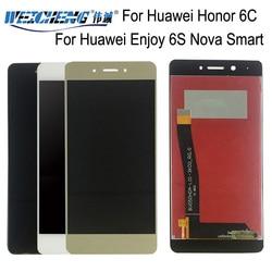 Para huawei honor 6c display lcd + montagem da tela de toque reparação parte acessórios para huawei desfrutar 6 s nova inteligente ferramentas gratuitas