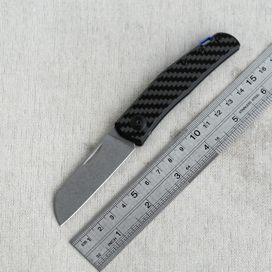 Zt0230 fibra de carbono portátil dobrável faca sobrevivência ao ar livre acampamento caça cozinha utilitário frutas caminhadas bolso facas edc ferramentas
