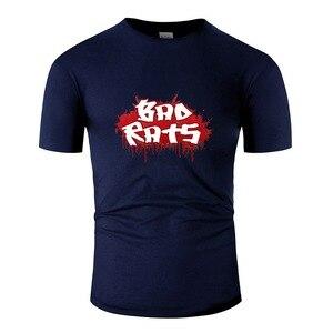 Customized Bad Rats Game Men T-Shirt Crew Neck Men's Tee Shirt Homme 100% Cotton Pop Top Tee