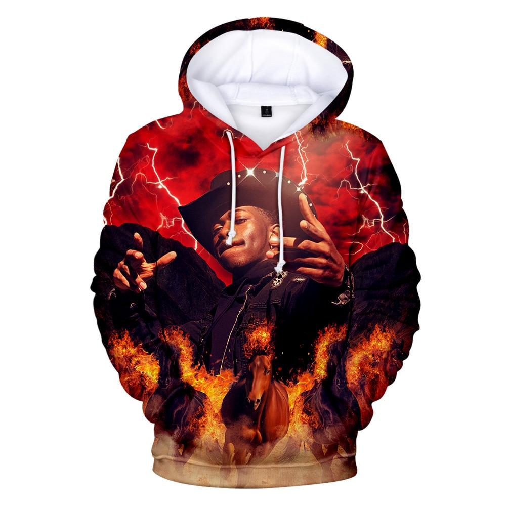 Clássico 3d print lil nas x hoodies  outdoor n. ° 1 moletom com capuz outono kpop 3d pullovers casaco masculino/feminino