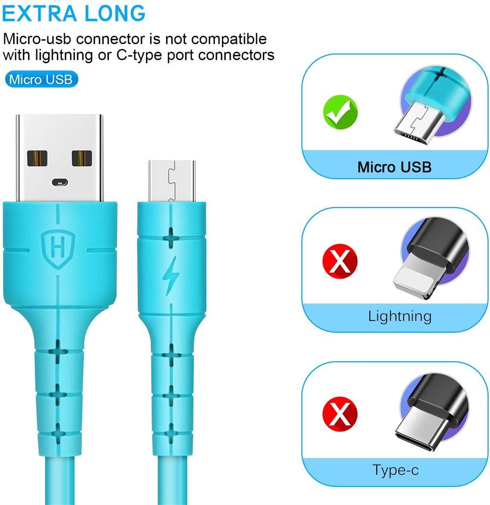 Cable Micro USB de carga rápida 3A, Cable de datos para Samsung,...