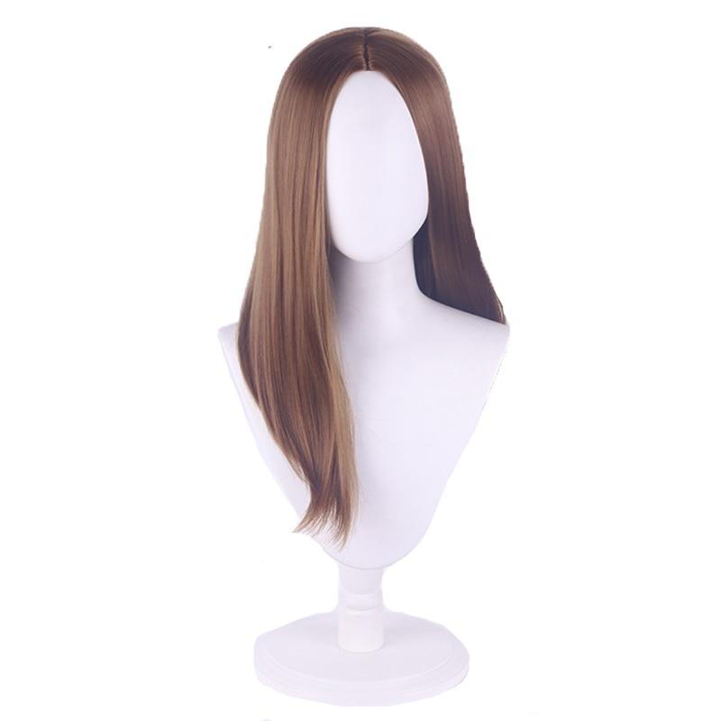 Game Village Daniela Cosplay Wig Vampire Madam's Daugther Biohazard Village Long Brown Hair Halloween Party Wig + Wig Cap