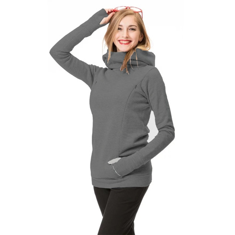 Women's Nursing Maternity Long Sleeves Stripe Breastfeeding Hoodie Sweatshirts Pregnancy Top Warm In Autumn and Winter S-3XL enlarge