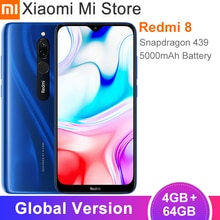 Versión Global Xiaomi Redmi 8 4GB 64GB Snapdragon 439 Octa Core 12MP Dual Cámara teléfono móvil 5000mAh batería de gran OTA