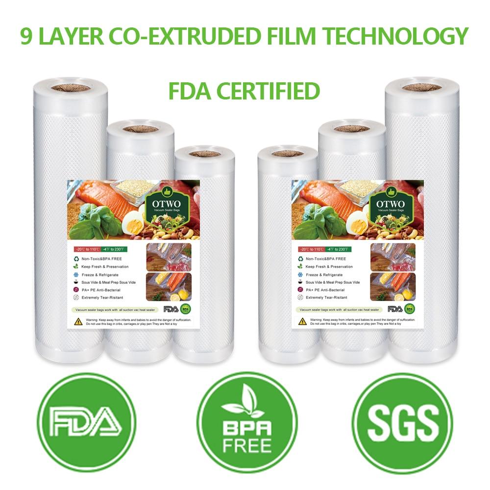 Best Air Vacuum Sealer Bags For Food Sous Vide Machine Vacuum Storage Bag Keep Food Fresh 12 15 20 25 28cm*500cm Packaging Bags