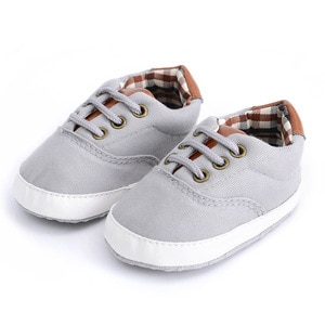 Spring Autumn Solid Color Baby Casual Shoes Soft Sole Infants First Walkers Canvas Newborn Baby Crib Shoes Wholesale