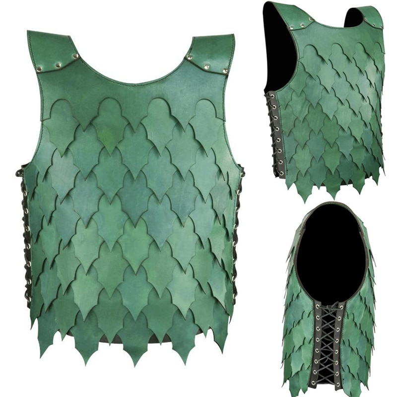 Medieval dragão escala peito armadura elven couro cuirass traje para adulto larp elf ranger doublet punk jerkin cosplay outfit masculino