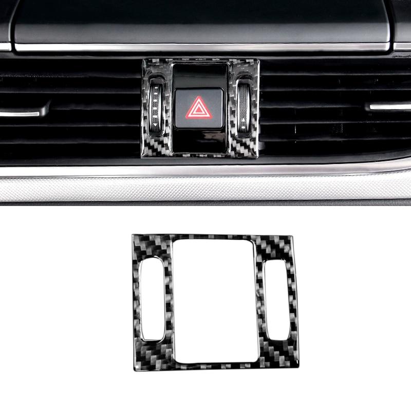Для Audi A6 C7 2012 2013 2014 2015 2016 углеродное волокно Автомобильный Центр Управление Панель воздуховыпускное отверстие Безопасность Предупреждение ...
