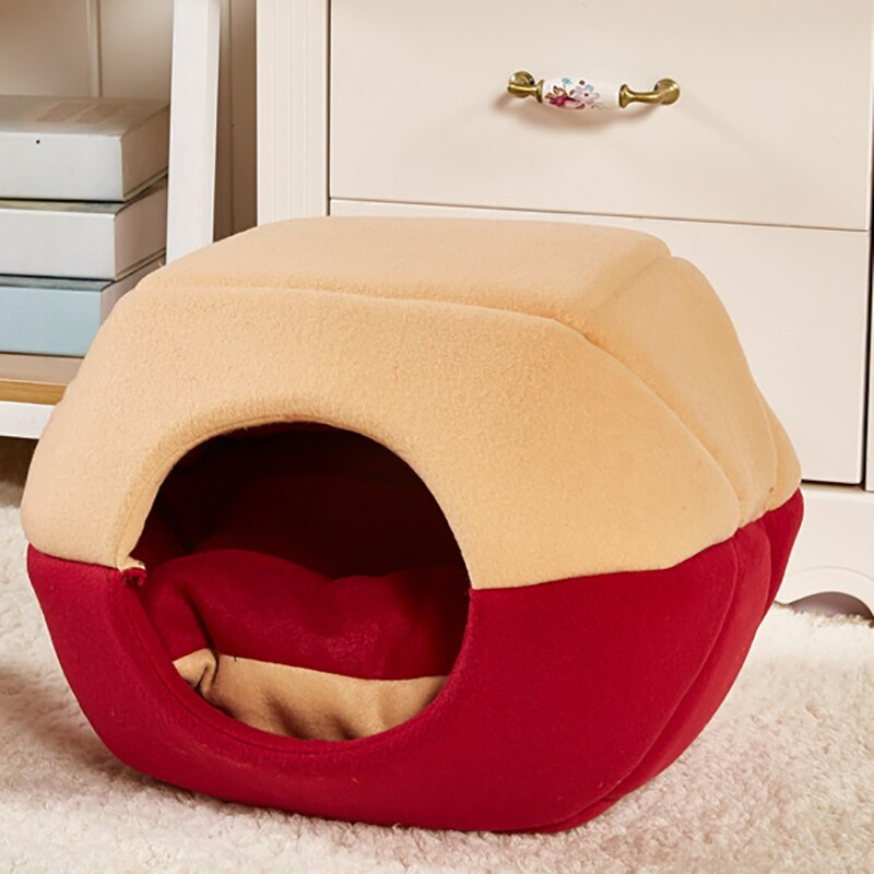 Plegable Gato cama de la casa de invierno cálido gatos nido perro...