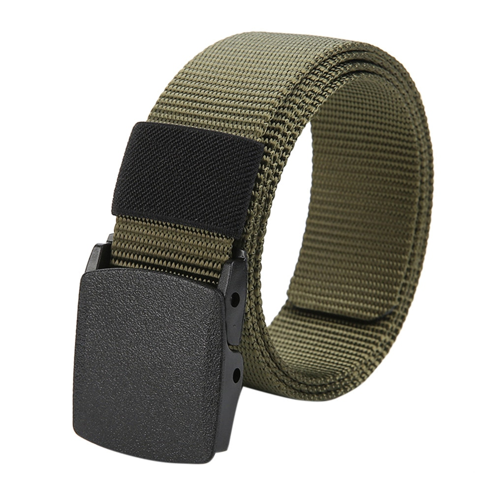 Mens Buckle Long Canvas Nylon Waist Web Belt Metal-free Security Check Belt Wholesale Dropshipping Long Canvas Nylon Belt Belt durable black canvas and nylon canvas adjustable for police utility security belt with quick release buckle