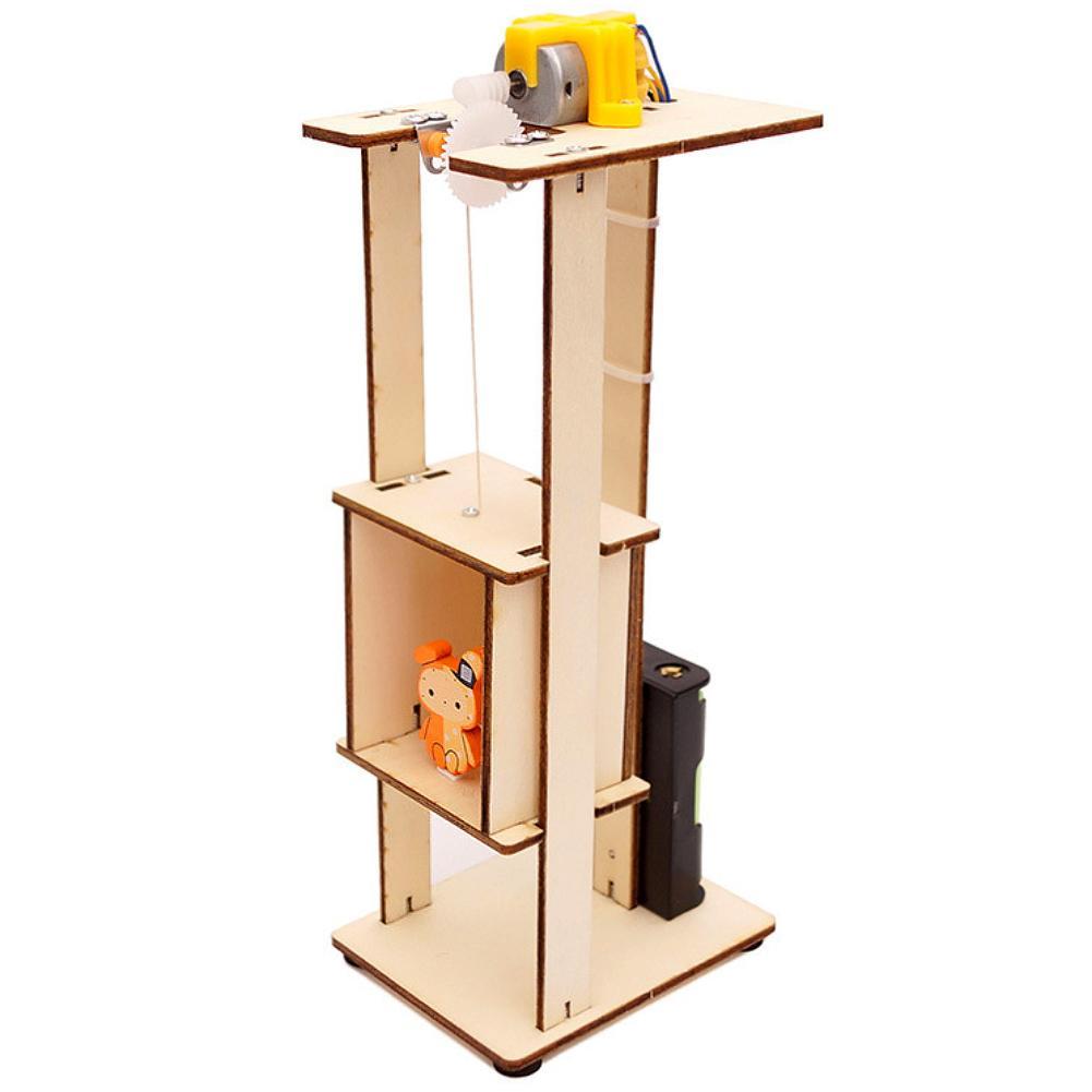 Elevador elétrico diy kits de montagem crianças ferramenta experimento educação científica brinquedos aumenta a capacidade de inovação das crianças