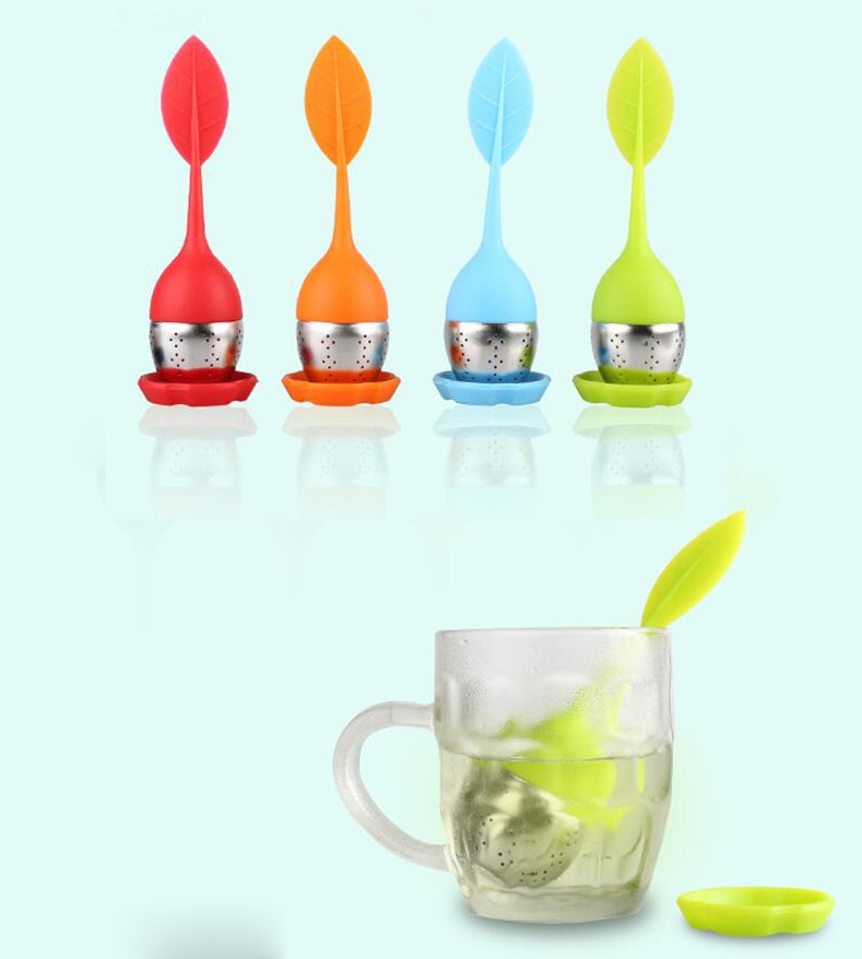 NEUE Küche Werkzeuge Tee-ei Edelstahl Nette Tee Ball Süße Blatt Tee Sieb für Brau Gerät Herbal Spice Filter