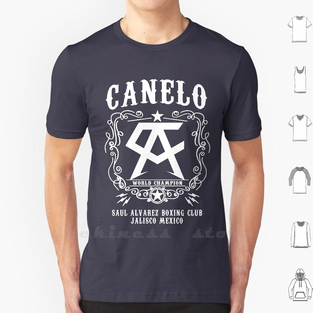 Camiseta Canelo de talla grande para 100%, algodón, boxeo, Canelo, Saul, alveez,...