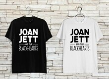 Joan Jett and The Blackhearts Symbol Hard Rock Music T-Shirt BW Size XS-3XL Men Women Unisex Fashion tshirt Free Shipping
