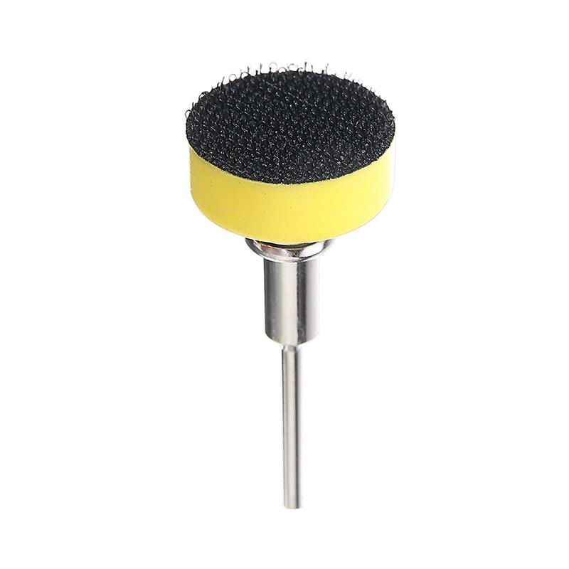 100 vnt. / Rinkinys 25 mm 80 80 600 1000 2000 3000 smėlio šlifavimo diskas apvalus šlifavimo sausas švitrinis popierius + atsarginė pagalvėlė poliravimo įrankiams