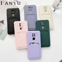 fashion cadny shockproof phone case for redmi note 10 4g 9s pro max 10x 9 card slots soft tpu cover for xiaomi mi poco m2 pro