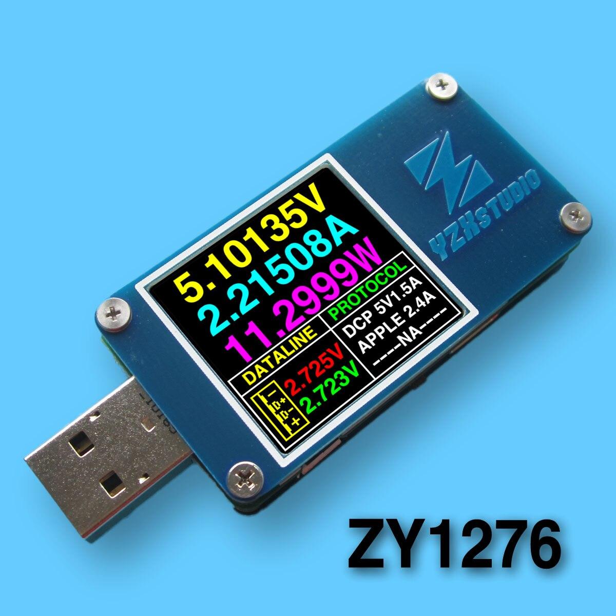 YZXstudio ZY1276 синий стол ZY1270 цветной стол USB PD TC тестер напряжения и емкости тока