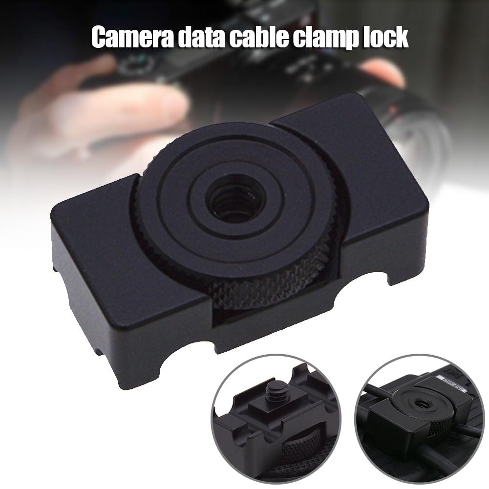 Cable bobinador de aleación de aluminio fijador de Cable cámara Digital Cables bloqueo Clip abrazadera Protector adaptador de montaje LHB99