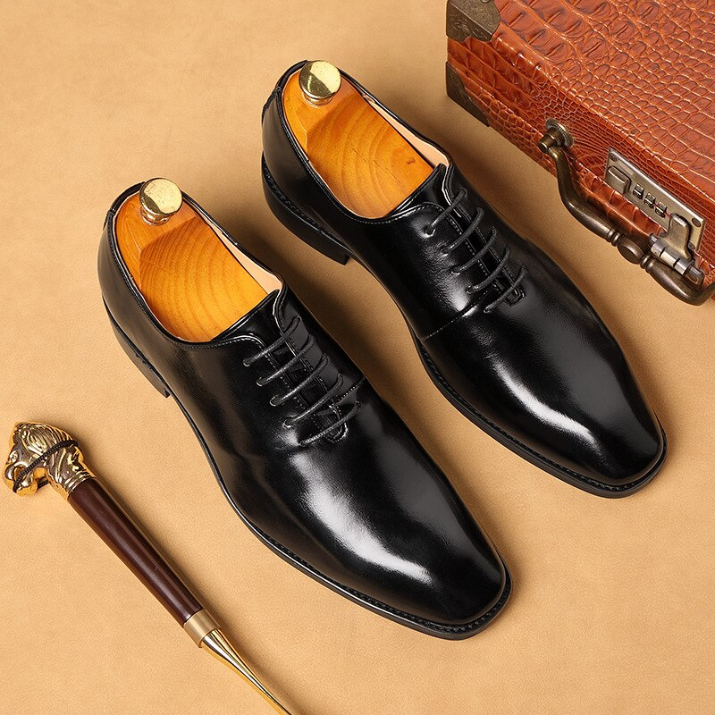 Plus Size 38-48 Men Wedding Dress Shoes 2020 High Quality Male Oxford Shoes Business Designer Social Men Shoes Loafers