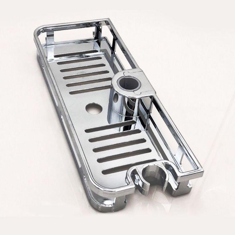 ♕s Multifunctional Shower Lift Bar Storage Rack Punch-Free Shower Rod Storage Tray New