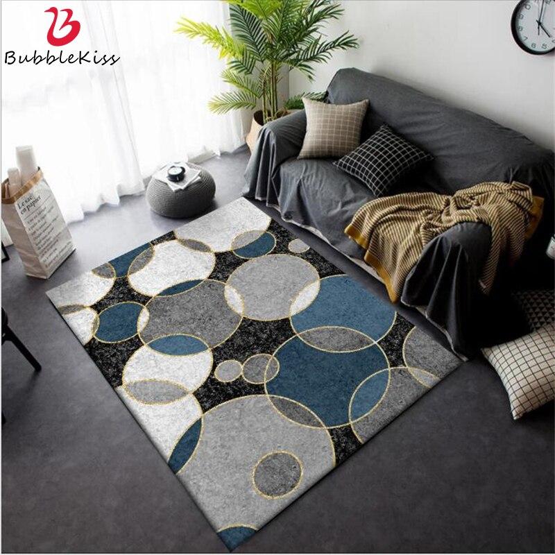 Bolha Beijo Tapetes Para Sala de estar Moderna Moda Minimalista Preto Azul Branco Cinza Grande Círculo Tapete Tapetes Para Sala de estar decoração