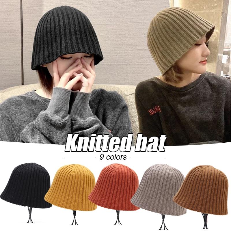 Однотонные вязаные шапки, шапка, зимние теплые лыжные шапки, мужские и женские разноцветные шапки, шапки, мягкая эластичная шапка