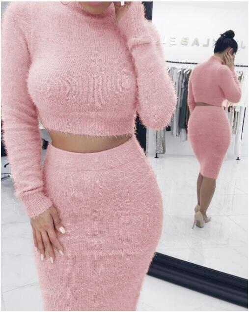 Vestido sexy feminino, cor lisa moda inverno mulheres sexy manga comprida bodycon festa clube vestidos curto outfits vestido suéter