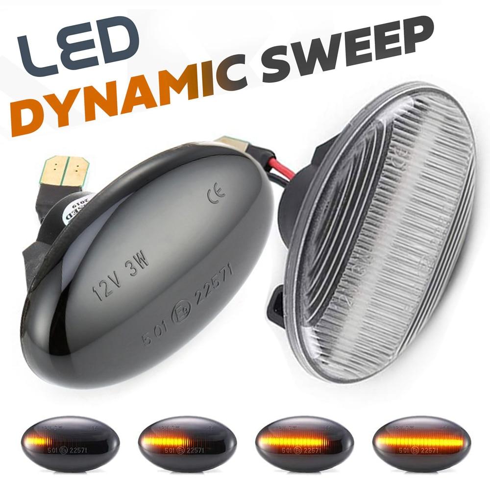 Luz LED dinámica de 2 uds., luces de señal de giro de posición lateral para Mercedes Benz Vito W639 W447 Citan W415 Clase A W168 Smart W450 W452