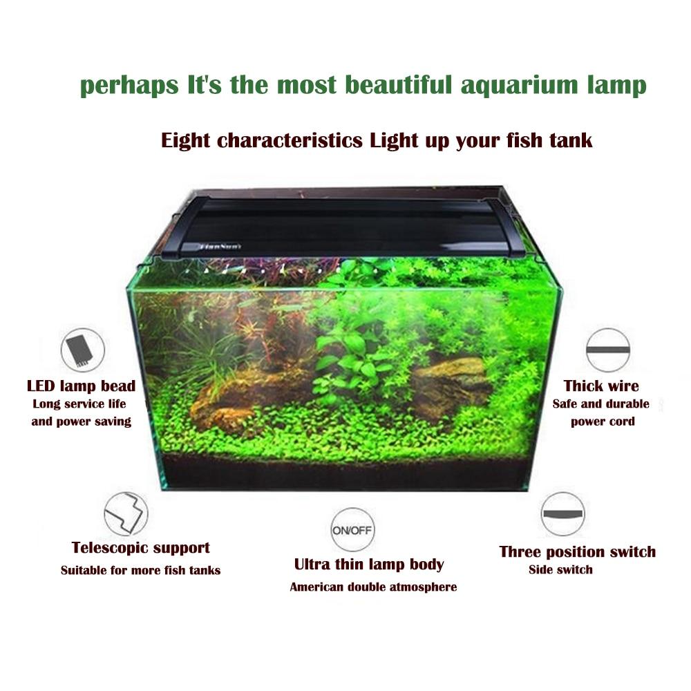Aquarium LED Lighting High Quality Fish Tank Bracket Light 10-15 Cm Extensible Strap Full Spectrum Coral Aquatic Tank Light