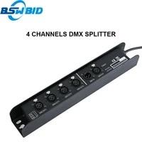 1 pcs dmx controller 4 port dmx distributorsplitter output 512x4 channels for dj disco stage light control