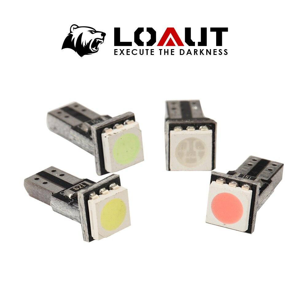 10 шт. лампы T5 CANBUS 5050 1 SMD приборной панели автомобиля предупреждающий индикатор Световой прибор кластерная панель без ошибок
