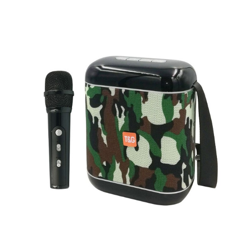 Nuevo altavoz inalámbrico Bluetooth para exteriores, portátil, PARA karaoke caja de música, baile, Subwoofer, Audio, micrófono, altavoz, Radio FM, TF, USB