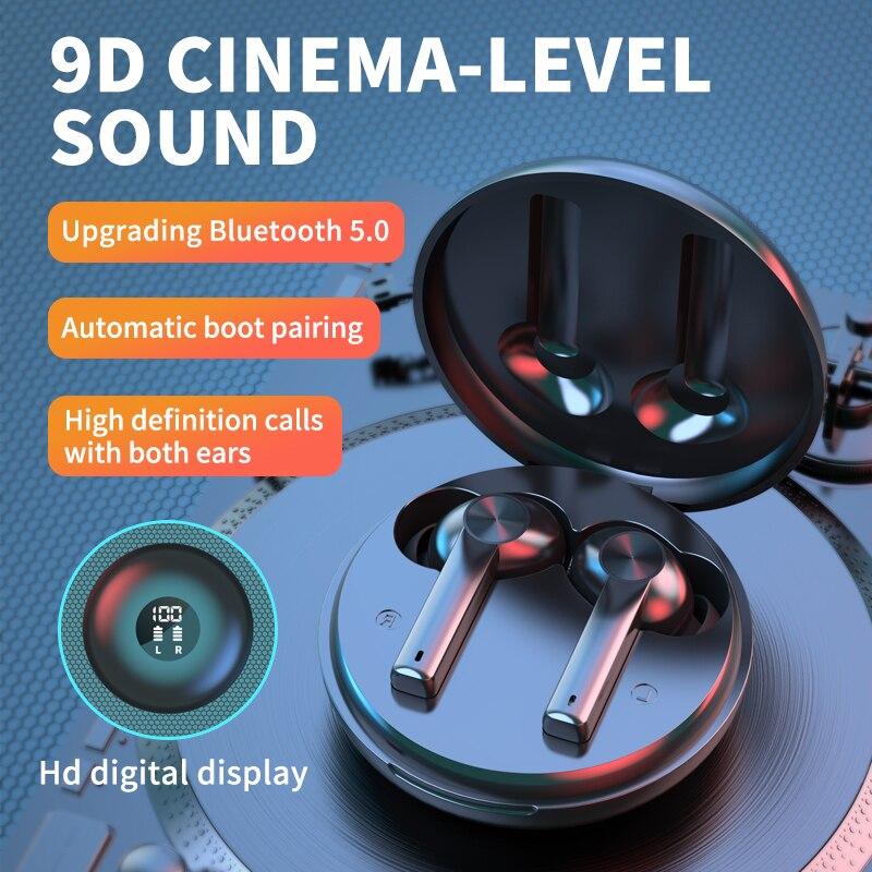 TWS Wireless Earphones Bluetooth 5.1 Headphone Digital Hd Display 9DStereo Sports Waterproof Earbuds