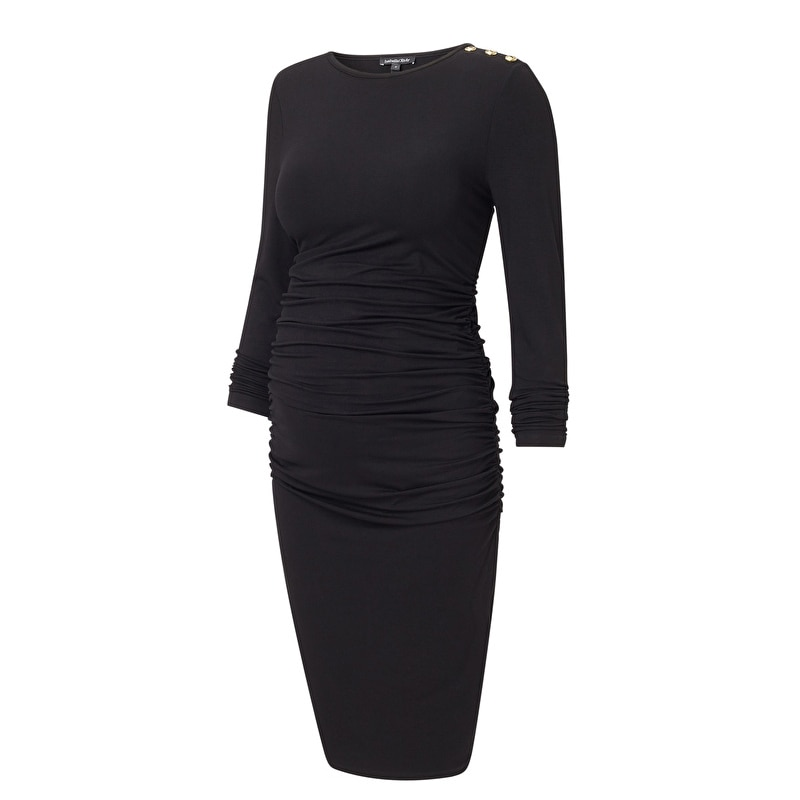 Soft Cotton Maternity Dress Plus Size Long Sleeve Spring Pregnant Dress Autumn Round Neck Clothes Pregnancy Dress  1701661 enlarge