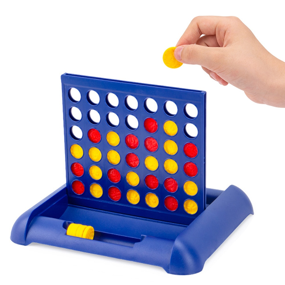 1 pcs new arrival hot sale connect four in a row 4 in a line board game kids children fun educational plastic challenging toy Connect 4 In A Line Board Game Children's Educational Toys Foldable Kids Children Line Up Row Board Puzzle Toys