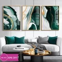 Peinture sur toile pour decoration de noel  affiches  marbre  Agate  emeraudes  tableau dart mural pour salon  decoration de maison