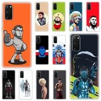 luxury silicone phone case for samsung galaxy s20 fe s10 s9 plus s21 ultra s8 soft matte cover funda khabib boxing russia