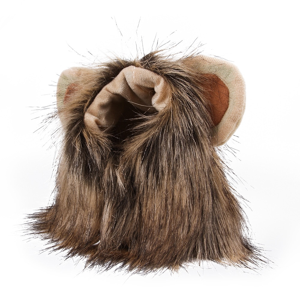 Bonito disfraz de gato y León, disfraz de cachorro, pelucas para disfraz de gato, Navidad, Cosplay, tela, perrito, sombrero para fiesta de Halloween, ropa divertida con orejas