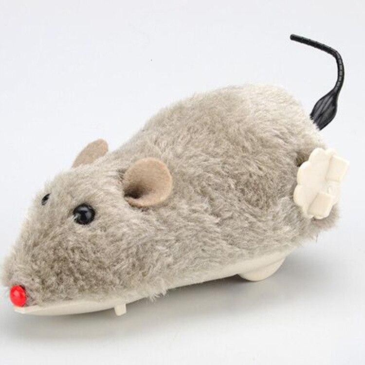 Sobre a corrente de cabelo de pelúcia simulação mouse wag cauda cão de estimação gato presente brinquedo de pressão engraçado gadget brincadeira horror diversão autismo sensorial