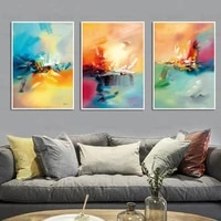 colorful graffiti abstract canvas painting watercolor art wallpaper poster decoration home office printing craft pictures